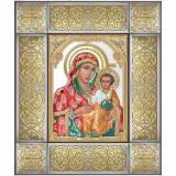 Cumpara ieftin Icoana Argint Maica Domnului Ierusalim 34.5x41cm Color COD: 3482