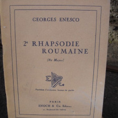2 RHAPSODIE ROUMAINE - GEORGES ENESCO PARTITURA (2 RAPSODIE ROMANA - GEORGE ENESCU)