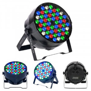 Proiector LED PAR, 50 W, 54 x LED, RGBW, 8 canale DMX