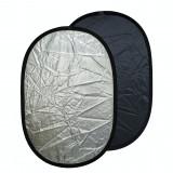 Cumpara ieftin Blenda ovala 2in1 silver-black 60x90cm, iShoot