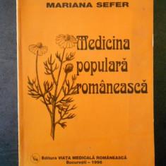 MARIANA SEFER - MEDICINA POPULARA ROMANEASCA