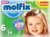 Molfix 6 junior+ scutece copii 36 buc