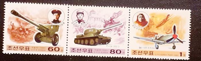 Korea 2000, transport , avioane, tancuri serie  3v. MNH