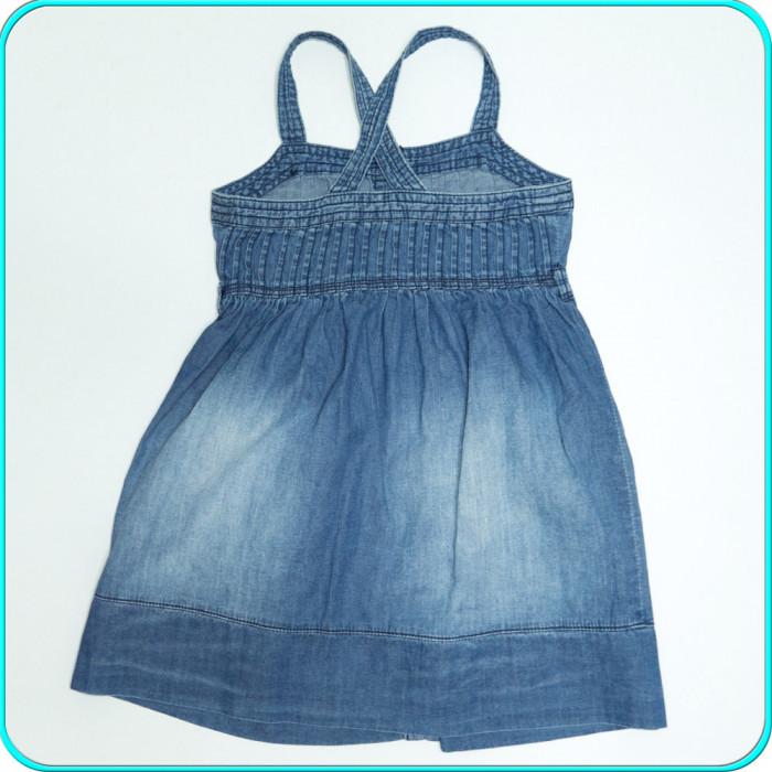 Sarafan de blugi, bumbac subtire, de calitate, ZARA → fete | 5—6 ani | 116 cm