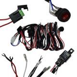 Cablaj proiectoare cu LED-LED BAR Off Road ATV Jeep cu releu 40A Comutator rotund siguranta 30A pentru 2 proiectoare / 2 leduri