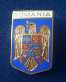 Placheta Stema - Blazon - Romania - Email - medalie