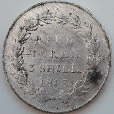 Jeton argint - Bank token 3 Shilling 1813