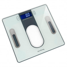 Cantar digital cu analizator Innofit INN-140, 150 kg, Alb