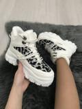 Adidasi dama albi cu platforma marime 37, 38, 39+CADOU