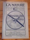 Revista La Nature subiecte aviatie 1921