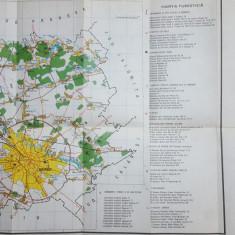 București, Harta turistică, Instituții culturale, Gradini, Spitale,