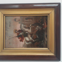 Cumpara ieftin Icoana Sfantul Gheorghe omorand balaurul Pictata in 1917