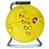 Prelungitor / Derulator tambur cablu, 3 x 1.5 mm, 50 M