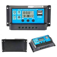 Regulator Controler Solar PWM 60A, 12V24V, 2 X USB Si LCD cu Garantie foto