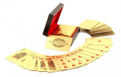 Cadou Gold Magic Playing Cards foto
