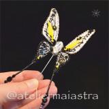 Cumpara ieftin Brosa fluture 3D cristale Swarovski handmade, brosa insecta, accesorii femei