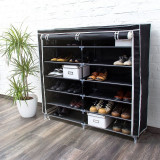 Pantofar din panza pentru 36 perechi pantofi-negru