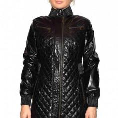 Haina dama, din piele naturala, marca Kurban, 403-01-95, negru , marime: M