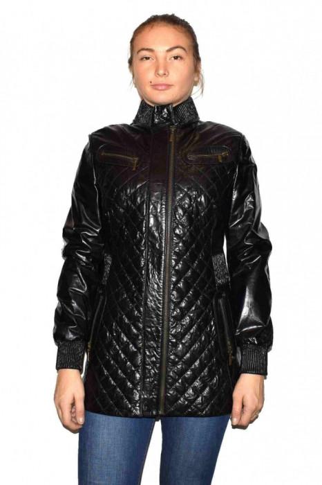 Haina dama, din piele naturala, marca Kurban, 403-01-95, negru M