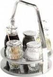 Set condimente 5 piese sare/piper/ulei/otet/scobitori - H170 mm