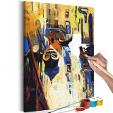 Pictura pe numere - Venice (Gondolas) - 40x60cm, Artgeist