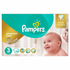Scutece Pampers Premium Care 3 Mega Box, 120 buc/pachet