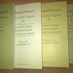 Cercetari logice 4 volume set complet / Edmund Husserl