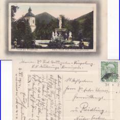 Campulung Moldovenesc ( Bucovina , Suceava )- Parcul Franz Josef, Circulata, Printata
