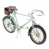 Macheta Bicicleta Retro din metal albastru antichizat 16 cm x 4 cm x 8 h, Clayre & Eef