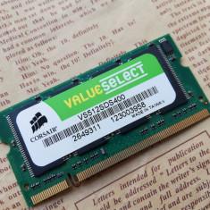 Memorie RAM laptop Corsair 512Mb DDR1 400Mhz SODIMM