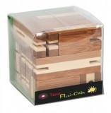 Joc logic puzzle 3D din bambus Flexi-cub-Fridolin