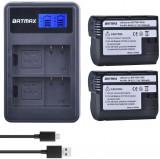 Set 2 acumulatori EN-EL15 + incarcator Nikon D610 D800 D810 D7100 D7200 V1 Z6 Z7, Dedicat