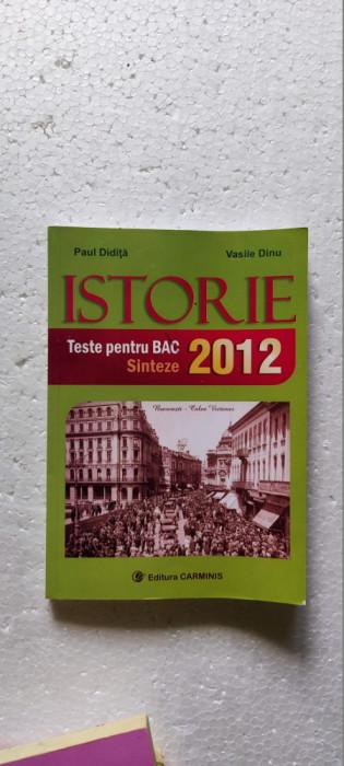 ISTORIE TESTE PENTRU BAC SINTEZE PAUL DIDITA , VASILE DINU