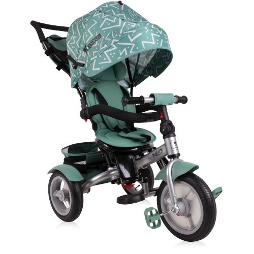 Tricicleta Multifunctionala 4 in 1 Neo Air, cu Roti Mari cu Camera, Colectia 2019 Green Lines