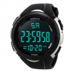 Ceas Barbatesc HONHX CS870, curea silicon, digital watch, functie cronometru, alarma