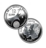 SV * Spania  12  euro  2002 * Președinția UE * ARGINT     UNC   în capsulă