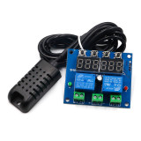 Termostat digital ZFX-M452 (12V) cu modul AM2301 / Controler temperatura (v.137)