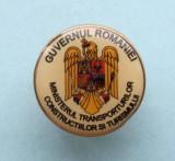 Insigna  Pin  -  GUVERNUL  ROMANIEI, Romania de la 1950