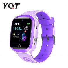Ceas Smartwatch Pentru Copii YQT Q13 cu Functie Telefon, Localizare GPS, Istoric traseu, Apel de Monitorizare, Camera, SOS, Joc Matematic, Mov, Cartel