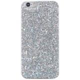 Cumpara ieftin Husa Apple iPhone SE 2 model model Crystal Glitter, Antisoc, Viceversa, Argintiu