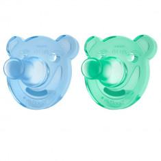 Set suzete Philips-Avent SCF194/01 Soothie,ortodontica si fara BPA, 0 - 3 luni verde-albastru, 2 buc