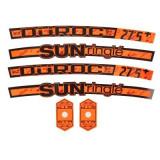 Stickere roată portocaliu, Rockrider