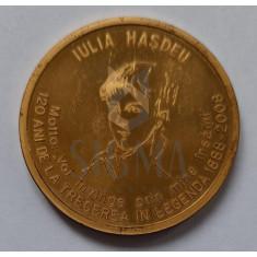 IULIA HASDEU - ASOCIATIA INTERNATIONALA A POLITISTILOR(SECTIA ROMANA) - PLACHETA - 120 DE ANI DE LA TRECEREA IN LEGENDA 1888-2008