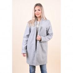 Palton Vero Moda Dafny Brushed 3/4 Light Grey Melange