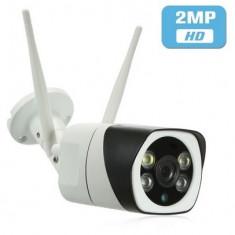 Camera de supraveghere wireless de exterior cu card, 2MP, 1080P, 2 antene