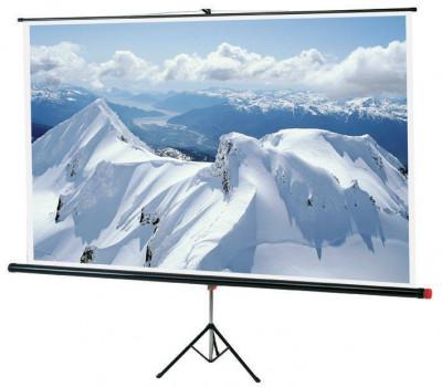 Ecran de proiectie Sopar Junior SP1180 tripod 180x180 cm 16:9 White foto