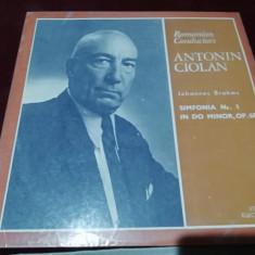 DISC VINIL ANTONIN CIOLAN BRAHMS SIMFONIA NR 1 IN DO MINOR