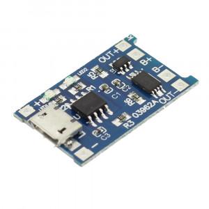 Incarcator TP4056 cu micro USB pentru baterii LiPo, 1A, cu protectie - 650006