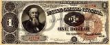 1 dolar 1890 Reproducere Bancnota USD , Dimensiune reala 1:1