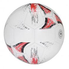 Minge de fotbal cu 32 segmente, marime 5, Everestus, KAD03, pvc, alb, rosu, desfacator de sticle inclus